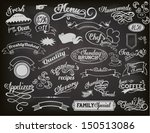 chalkboard ads  including... | Shutterstock .eps vector #150513086