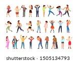 big set of adult people in... | Shutterstock .eps vector #1505134793