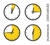 Clock Icon With Parts Of Hour...