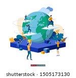 trendy flat illustration.... | Shutterstock .eps vector #1505173130