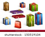 set of vector isolated gifts | Shutterstock .eps vector #150519104