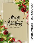 merry christmas  happy new year ... | Shutterstock .eps vector #1505202920