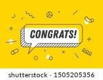 congrats. banner  speech bubble ... | Shutterstock . vector #1505205356