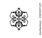 baroque ornament with filigree...   Shutterstock .eps vector #1505207129