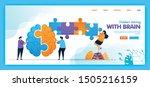 landing page vector design of...   Shutterstock .eps vector #1505216159