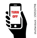 """mobile phone in hand with """"turn ... 