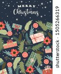 christmas and happy new year... | Shutterstock .eps vector #1505266319