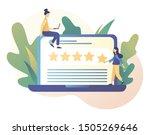 star rating concept. customer...