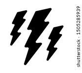 lightning icon   from forecast  ... | Shutterstock .eps vector #1505285939