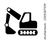 backhoe icon   from... | Shutterstock .eps vector #1505287559