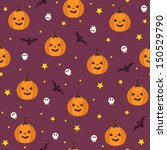 halloween seamless pattern | Shutterstock .eps vector #150529790