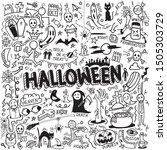 vector of hand drawn doodle... | Shutterstock .eps vector #1505303729