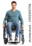 Handsome Man In Wheelchair On...