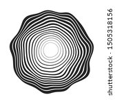 concentric black wavy lines... | Shutterstock .eps vector #1505318156