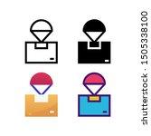 airdrop logo icon design in...