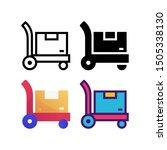 pushcart logo icon design in...