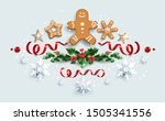 winter festive decorations... | Shutterstock .eps vector #1505341556