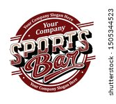 typography   sports bar logo... | Shutterstock .eps vector #1505344523