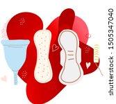 set of hand drawn feminine...   Shutterstock .eps vector #1505347040