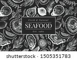 oysters and spices design... | Shutterstock .eps vector #1505351783