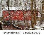 The Red Ashland Covered Bridge  ...
