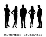 vector silhouettes of  men and... | Shutterstock .eps vector #1505364683