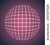 illuminated purple mesh sphere. ... | Shutterstock .eps vector #150537020