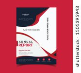 corporate red business flyer... | Shutterstock .eps vector #1505395943