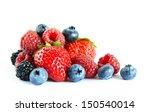 Big Pile Of Fresh Berries On...