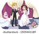 wedding couple with wedding...