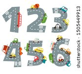set of numbers with number of... | Shutterstock .eps vector #1505449913