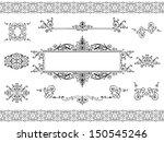 calligraphic vintage frame... | Shutterstock .eps vector #150545246
