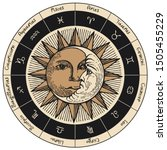 vector circle of the zodiac... | Shutterstock .eps vector #1505455229