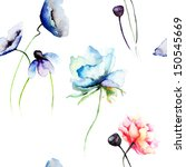 seamless wallpaper with... | Shutterstock . vector #150545669