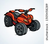tthree wheeler quadbike engine... | Shutterstock .eps vector #1505458289