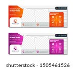 travel tours banner template ... | Shutterstock .eps vector #1505461526