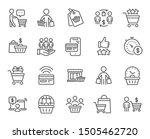 buyer customer line icons.... | Shutterstock .eps vector #1505462720