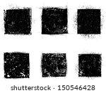 grunge shapes  | Shutterstock .eps vector #150546428