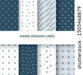 hand drawn lines pattern...   Shutterstock .eps vector #1505468879