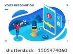 voice recognition smartphone... | Shutterstock .eps vector #1505474060