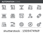 automation vector line icons... | Shutterstock .eps vector #1505474969