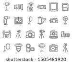 outline photo icons.... | Shutterstock .eps vector #1505481920