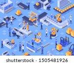 isometric smart industrial... | Shutterstock .eps vector #1505481926