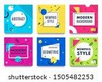 abstract geometric frame....   Shutterstock .eps vector #1505482253