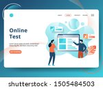 landing page online test vector ...