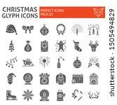 christmas glyph icon set ... | Shutterstock .eps vector #1505494829