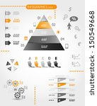big orange pyramid infographic... | Shutterstock .eps vector #150549668