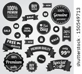black and white vector labels... | Shutterstock .eps vector #150549713