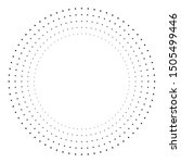 radial halftone dots in circle... | Shutterstock .eps vector #1505499446