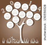 Tree Calendar For 2014 Year...